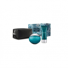 BVLGARI KIT AQVA EDT100ML+AFTER SHAVE BALM100ML+ POUCH