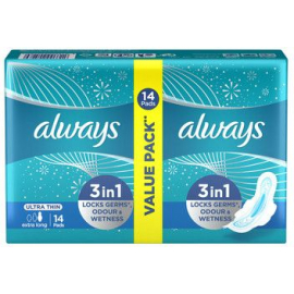 Always Ultra Thin Extra Long 3IN1 DUOPACK 14 PENSOS