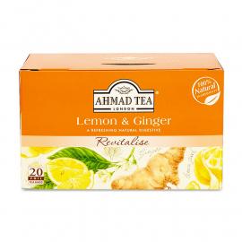 AHMAD TEA  INFUSION HERBAL TEA LEMON E GINGER - 020
