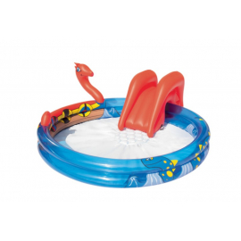 Bestway piscina com escorrega para crianças (203x170x76)cm