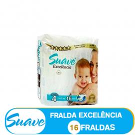 SUAVE FRALDA  TAMANHO 4 DE 9-15kg/ (85100)- 16 FRALDAS