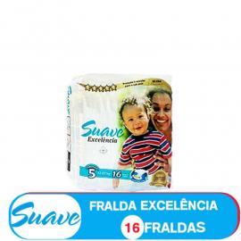 SUAVE FRALDA  TAMANHO 5 DE 12-22kg/ 16 FRALDAS (85200)
