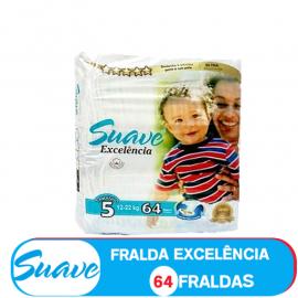 SUAVE FRALDA  TAMANHO 5 DE 12-22kg/ (85202) - 64 FRALDAS