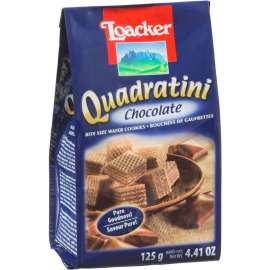 LOACKER QUADRATINI CHOCOLATE 125 GR