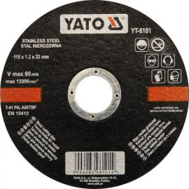 DISCO CORTAR INOX 115 X 1.2 X 22 MM YATO