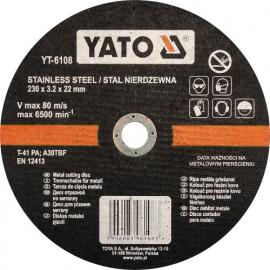 DISCO CORTAR INOX 230 X 3.2 X 22 MM YATO
