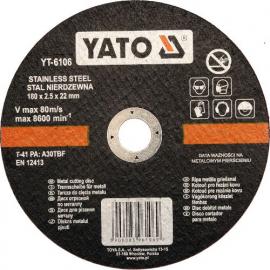 DISCO CORTAR INOX 180 X 22 X 2.5 MM YATO