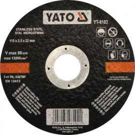 DISCO CORTAR INOX 115 X 2.5 X 22 MM YATO
