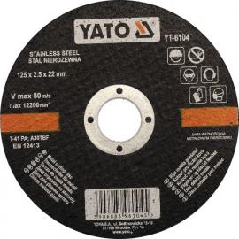 DISCO DE CORTAR INOX 125 X 2.5 X 22 MM