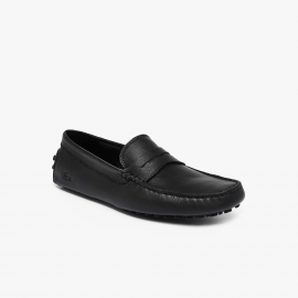 LACOSTE LEATHER MOCCASIN