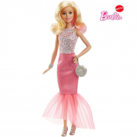 Barbie Pink and Fabulous Light Pink Gown Doll