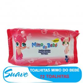 SUAVE TOALHITAS HUMIDAS MIMO DO BEBÉ 72PCS ROSA
