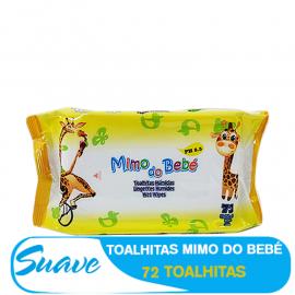 SUAVE TOALHITAS HUMIDAS MIMO DO BEBÉ 72PCS AMARELO