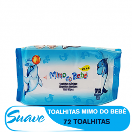 SUAVE TOALHITAS HUMIDAS MIMO DO BEBÉ 72PCS AZUL