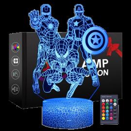 LÂMPADA 3D COM CONTROLO REMOTO 1456