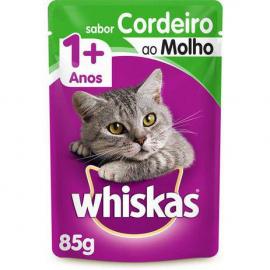 Whiskas Adulto Ração Molhada  com molho de cordeiro 85g