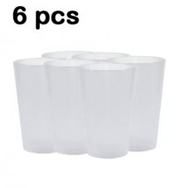 REEM COPOS TRANSPARENTE DE PLASTICO -6PCS