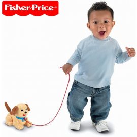 Fisher Price Lil' Snoopy, dog-themed pull toy for walking infants & toddlers