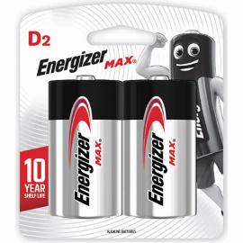 PILHAS - ENERGIZER MAX D2 BP2 2UN E95BP2