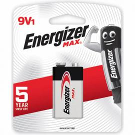 PILHAS - ENERGIZER MAX 9V BL 1UN 522BP1