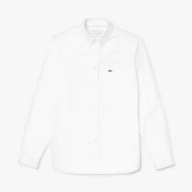 LACOSTE CHEMISE CASUAL MANCHES LONGUES BLANC