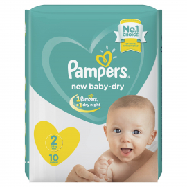 Pampers Baby Dry S2 3-8kg MINI 10UN