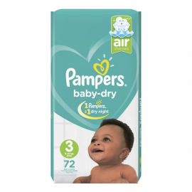 Pampers Baby Dry S3 6-10kg midi 72un