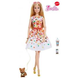 Mattel Barbie Barbie Look - white with flowers