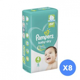 Pampers Baby Dry S4 9-18kg Maxi  8un