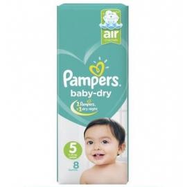 Pampers Baby Dry S5 11-25kg Junior 8Un