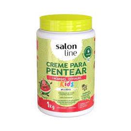SALON LINE CREME PARA PENTEAR, CACHINHO DEFINIDOS VEGANO KIDS 1KG