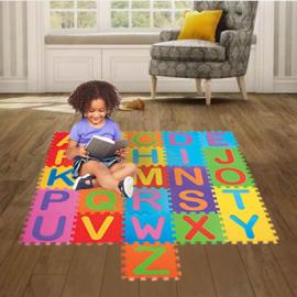 Tapete Puzzle Abecedário de Borracha EVA para Criança