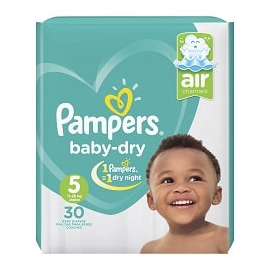 Pampers Baby Dry S5 11-25KG 30UN
