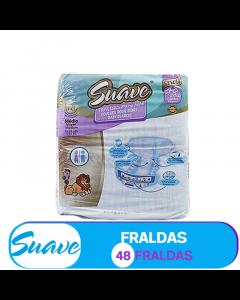 SUAVE FRALDA  MÉDIO- 5-11kg / 48 FRALDAS (81202)