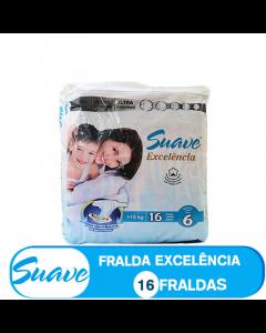 SUAVE FRALDA  TAMANHO  6  DE >15kg/ (85300) - 16 FRALDAS