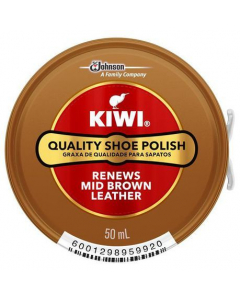 KIWI SHOE POLISH MID BROWN 50ML