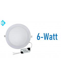 LED Round 6W Fina Branca