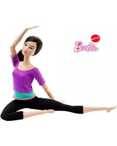 Barbie Made to Move Doll, Purple Top