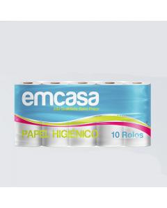 EMCASA PAPEL HIGIÊNICO NORMAL 10 ROLOS