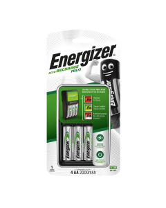 CARREGADOR - ENERGIZER MAXI 4 PILHAS AA 2000mAh