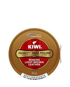 KIWI SHOE POLISH LIGHT BROWN 50ML