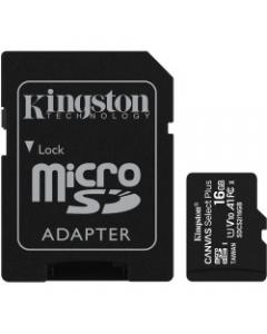 KINGSTON MOD  MICRO SD 16GB CL10 100R C/ADAPT