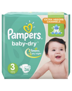 Pampers Baby Dry S3 6-10kg  36 UN