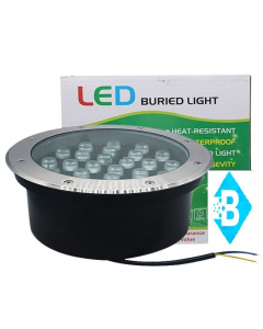 LED Sepultada Redonda 24W  IP67